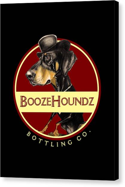 Craft Beer Canvas Print - Boozehoundz Bottling Co. by John LaFree