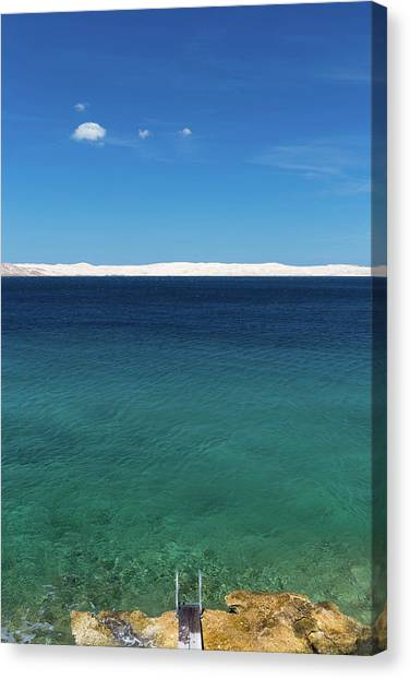 Canvas Print featuring the photograph Bora In Velebit Kanal I by Davor Zerjav