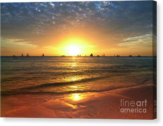 Venice Beach Canvas Print - boracay,Philippians 4 by Mark Ashkenazi