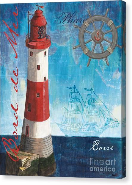 Ships Canvas Print - Bord De Mer by Debbie DeWitt