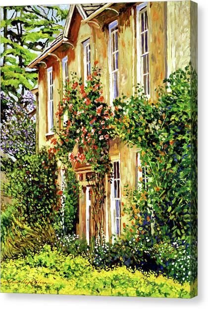 Bordeaux Garden House Canvas Print by David Lloyd Glover