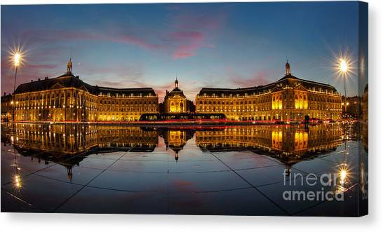 Bordeaux Reflections Canvas Print