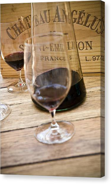 Bordeaux Wine Tasting Canvas Print by Frank Tschakert