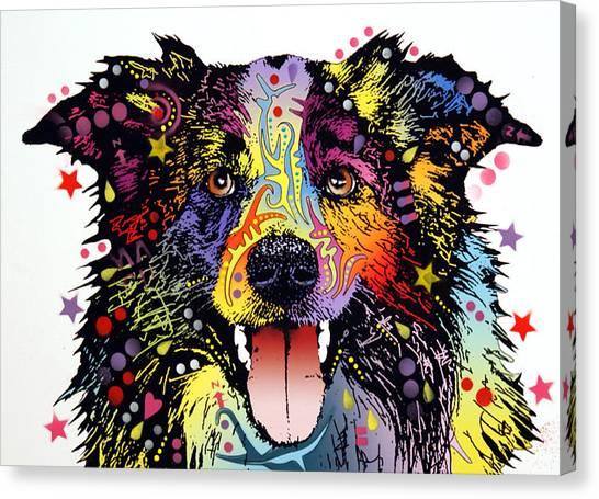 Collie Canvas Print - Border Collie 2 by Dean Russo Art