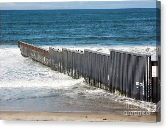Pacific Division Canvas Print - Border Fence by Jim West