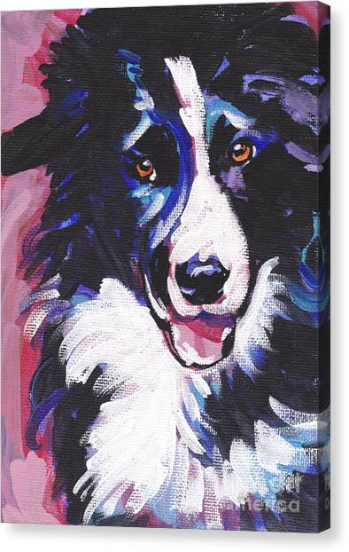 Border Collies Canvas Print - Border Patrol by Lea S