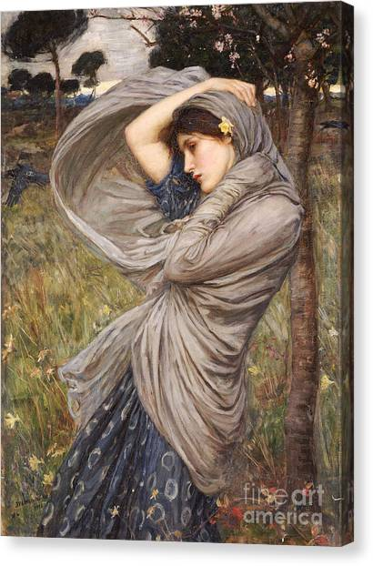 Winds Canvas Print - Boreas by John William Waterhouse