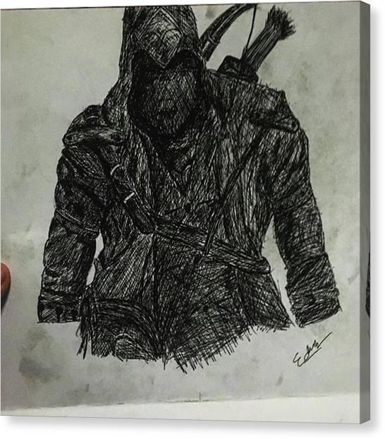 Superhero Canvas Print - Bored by Adamantine Wolverine