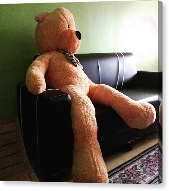 Teddy Bears Canvas Print - Bored Day by Yuszm Jusoh