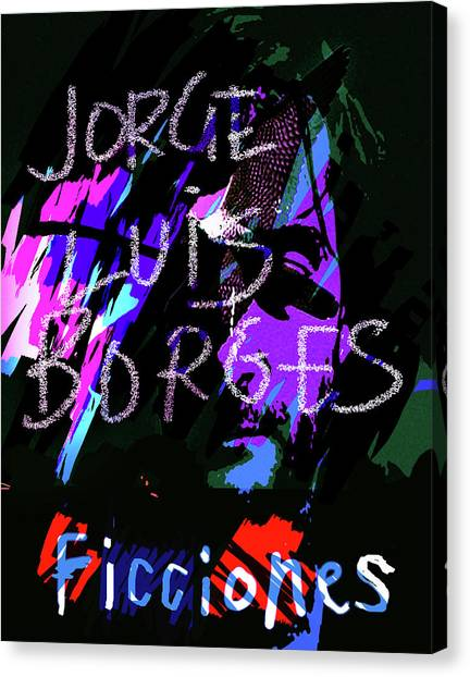 Imaginary Worlds Canvas Print - Borges Ficciones/fictions Poster by Paul Sutcliffe