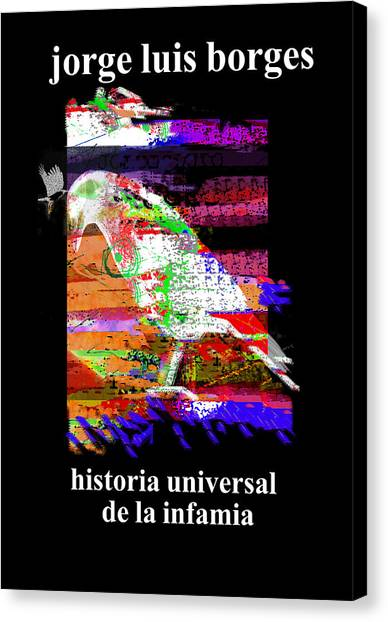 Imaginary Worlds Canvas Print - Borges Infamia Poster  by Paul Sutcliffe