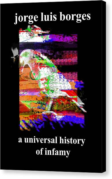 Imaginary Worlds Canvas Print - Borges Infamy Poster by Paul Sutcliffe