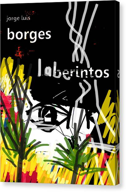 Imaginary Worlds Canvas Print - Borges Laberintos Poster  by Paul Sutcliffe