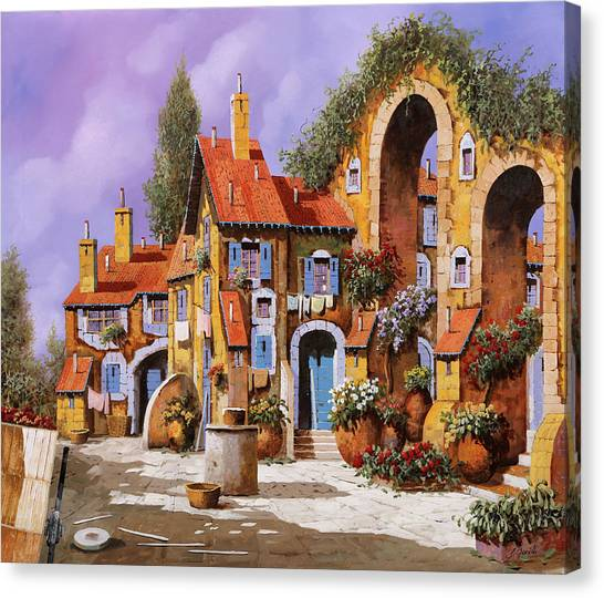 Villages Canvas Print - Borgo A Colori by Guido Borelli