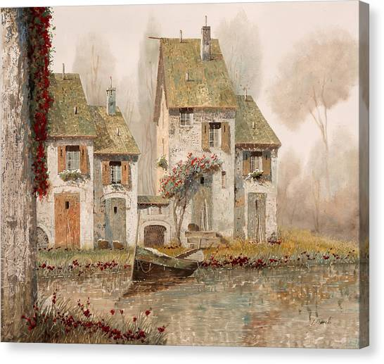 Fog Canvas Print - Borgo Nebbioso by Guido Borelli