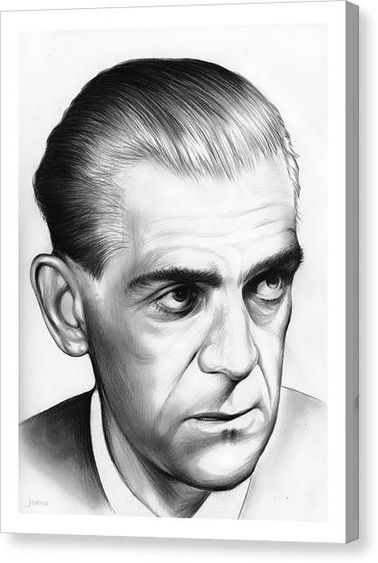 Grinch Canvas Print - Boris Karloff by Greg Joens