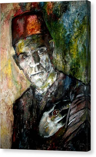 Grinch Canvas Print - Boris Karloff - Imhotep - The Mummy by Marcelo Neira