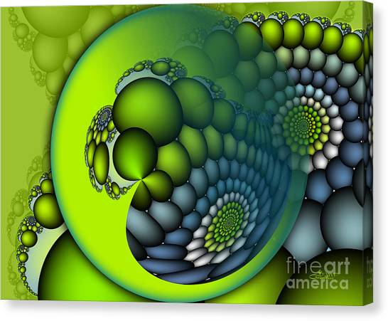 Spiral Canvas Print - Born To Be Green by Jutta Maria Pusl