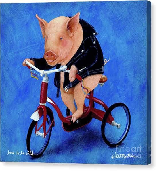Born To Be Wild... Canvas Print by Will Bullas