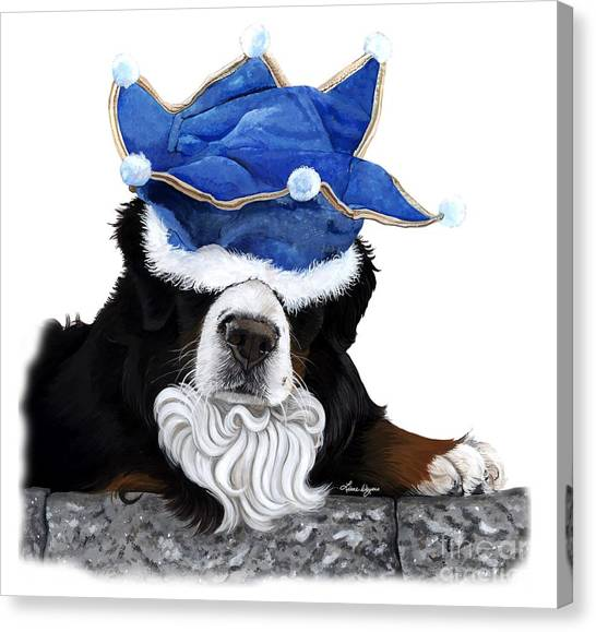 Bernese Mountain Dogs Canvas Print - Born To Rule - Bernese Mountain Dog by Liane Weyers