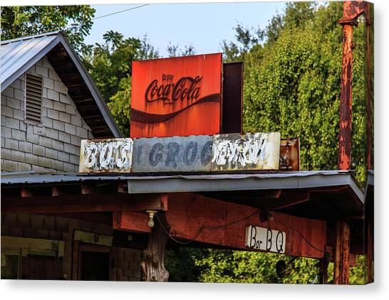 Canvas Print featuring the photograph Bo's Grocery by Doug Camara