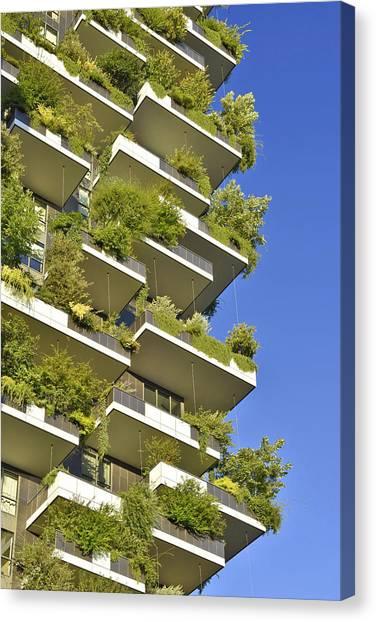 Bosco Verticale Green Facade Canvas Print