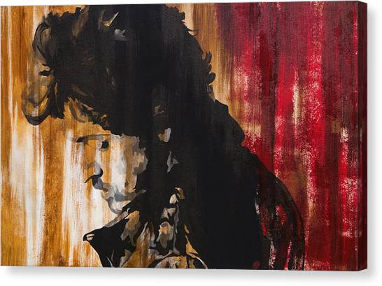 Bruce Springsteen Canvas Print - Boss by Brad Jensen
