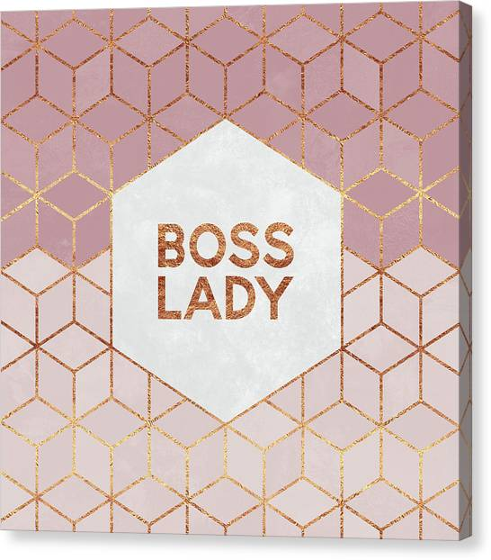 Girl Canvas Print - Boss Lady by Elisabeth Fredriksson