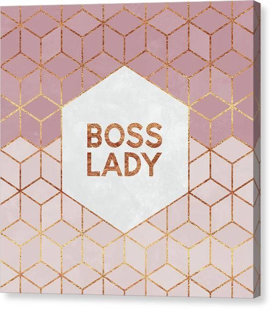 Pink Canvas Print - Boss Lady by Elisabeth Fredriksson