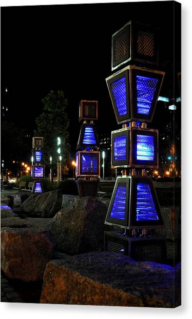 Boston At Night 2 Canvas Print by Andrew Dinh