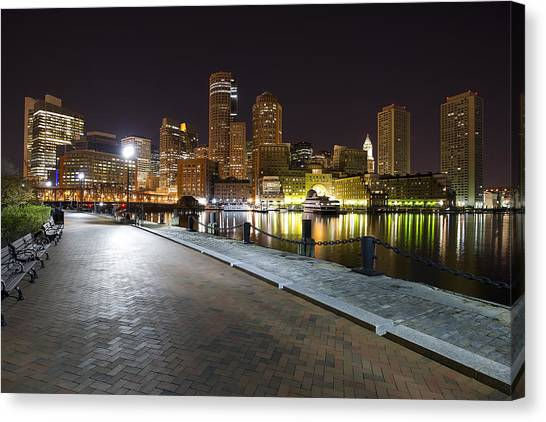 Boston Boardwalk Canvas Print