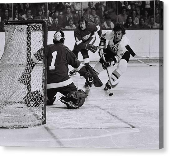 Bobby Orr Canvas Print - Boston Bruins Legend Bobby Orr. by Positive Images