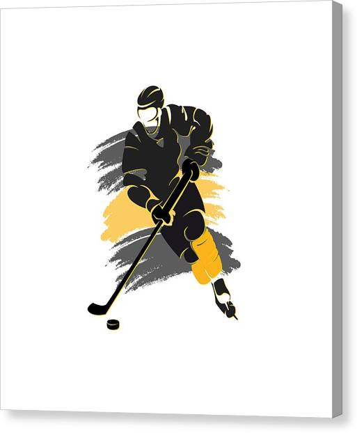 Boston Bruins Canvas Print - Boston Bruins Player Shirt by Joe Hamilton