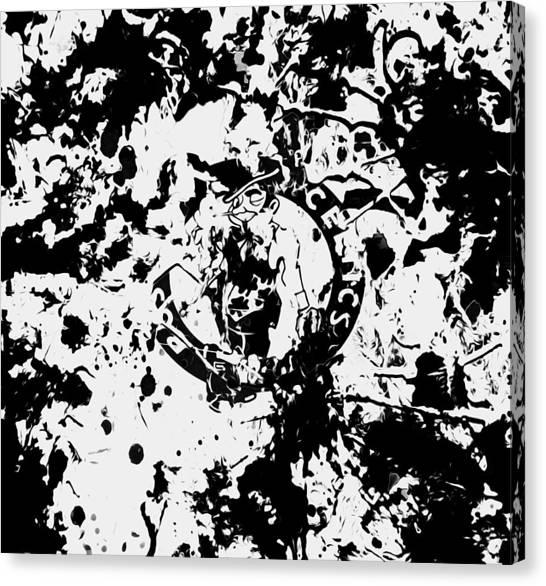 Larry Bird Canvas Print - Boston Celtics 1d by Brian Reaves