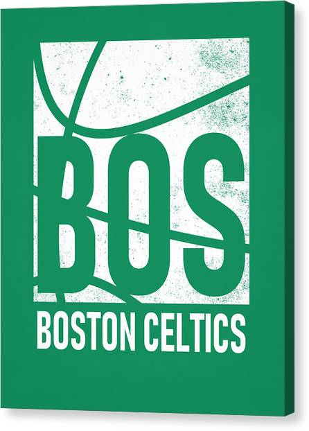 Boston Celtics Canvas Print - Boston Celtics City Poster Art by Joe Hamilton