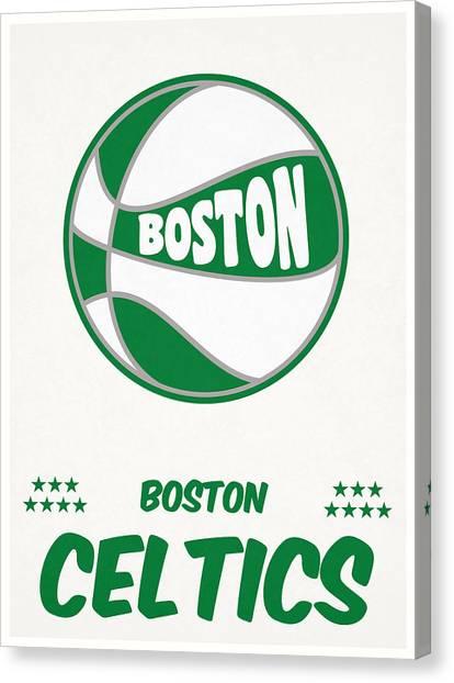 Boston Celtics Canvas Print - Boston Celtics Vintage Basketball Art by Joe Hamilton