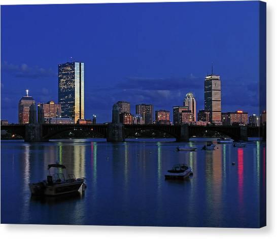 Boston City Lights Canvas Print