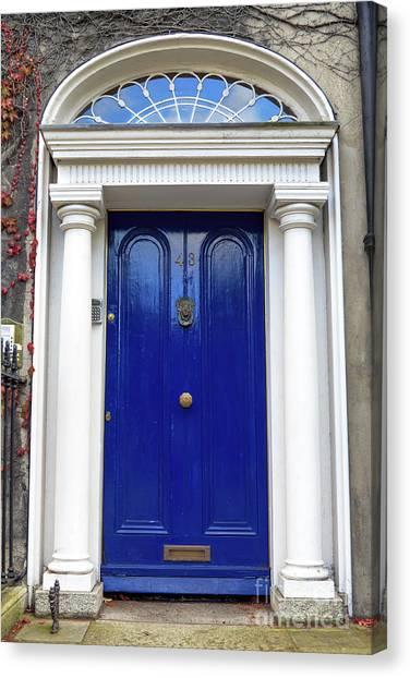 Boston College Canvas Print - Boston College Blue Door by John Rizzuto