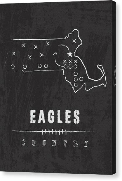 Boston College Canvas Print - Boston College Eagles / Ncaa College Football Art / Chestnut Hill Massachusetts by Damon Gray