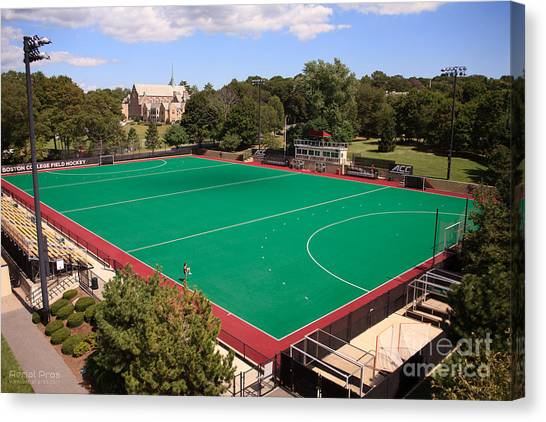 Boston College Canvas Print - Boston College Field Hockey by Anthony Salerno