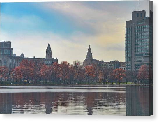 Boston College Canvas Print - Boston College From The Charles River by Bill Cannon