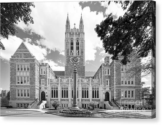 Graduation Canvas Print - Boston College Gasson Hall by University Icons