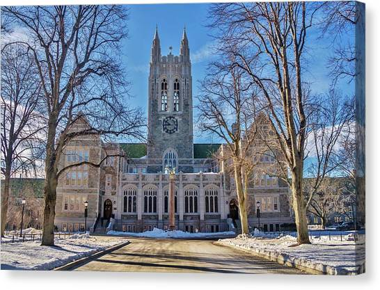 Boston College Canvas Print - Boston College by Marisa Geraghty Photography