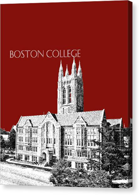 Boston College Canvas Print - Boston College - Maroon by DB Artist