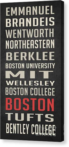 Northeastern University Canvas Print - Boston Collegetown by Edward Fielding