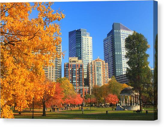 Boston Common In Autumn Canvas Print