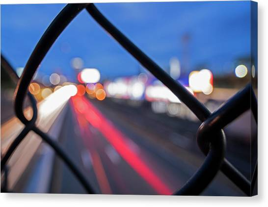 Boston University Bu Canvas Print - Boston Fence Abstract Mass Pike by Toby McGuire