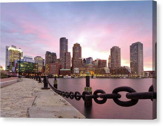 Cities Canvas Print - Boston Harbor by Photo by Jim Boud