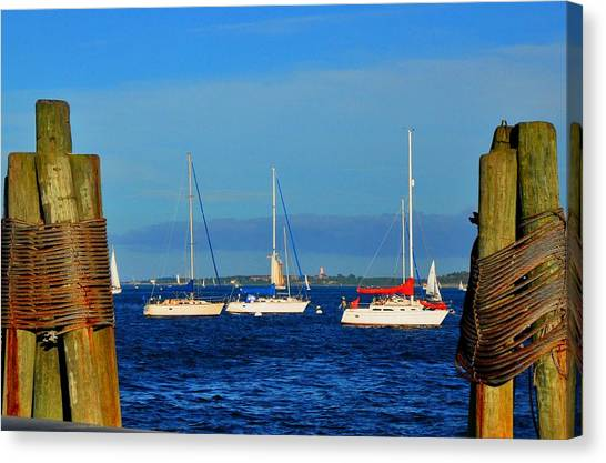 Boston Harbor Picture Perfect Canvas Print by Andrew Dinh