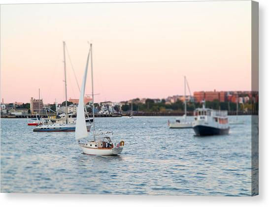 Boston Harbor View Canvas Print